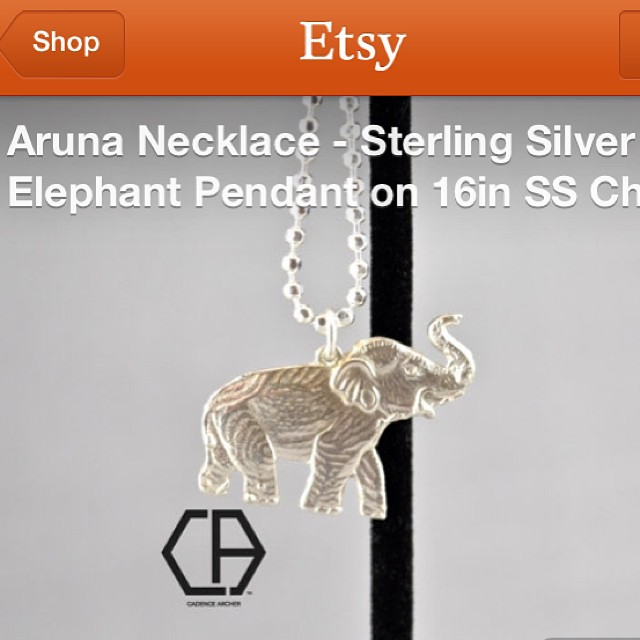 Cadence Archer on Instagram: Aruna #necklace by @cadencearcher now on #Etsy.#sterlingsilver #handmade#madeinDC #elephant #jewelry #haute #accessories#instajewelry