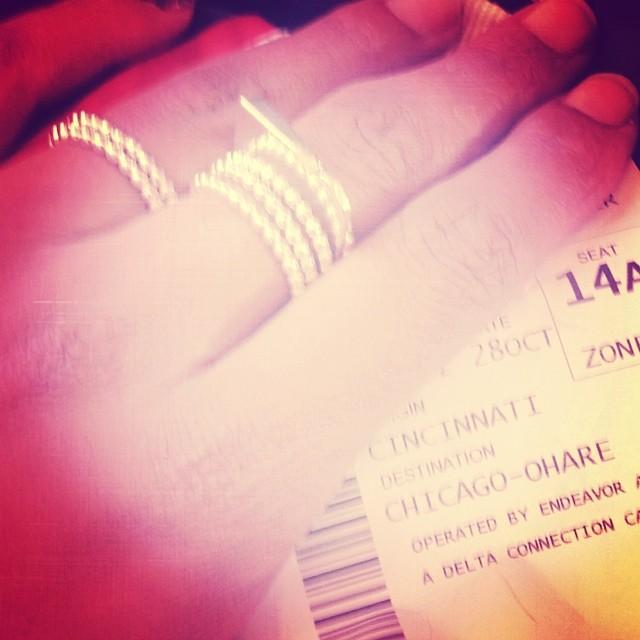 Cadence Archer on Instagram: Me &my #Alivia #rings headed 2the Windy City. #HandMadeInDC #jewelry #metalsmith #instajewelry #accessories